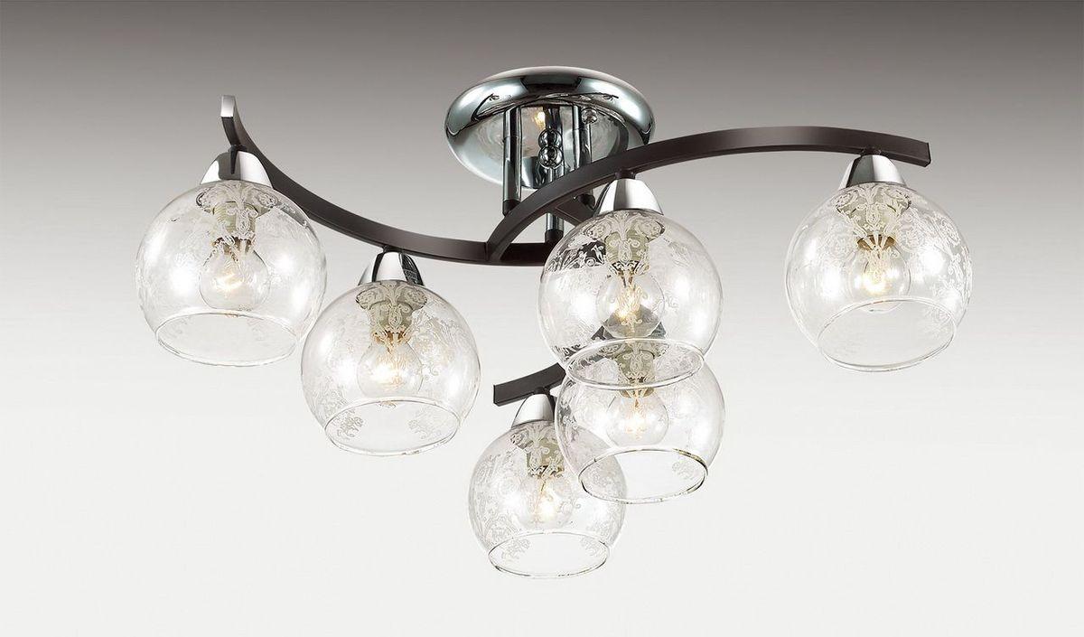 Люстра потолочная Odeon Light Vanes, 6 х E14, 60W. 2943/6C2943/6C