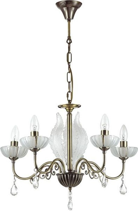 Люстра подвесная Odeon Light Perlita Bronze, 5 х E14, 60W. 3138/53138/5
