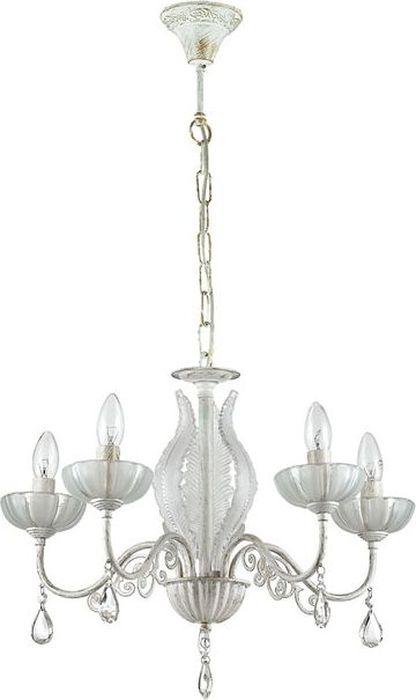 Люстра подвесная Odeon Light Perlita White, 5 х E14, 60W. 3139/53139/5
