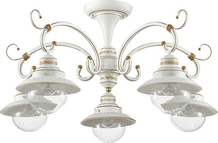 Люстра потолочная Odeon Light Sandrina White, 5 х E27, 60W. 3248/5C3248/5C