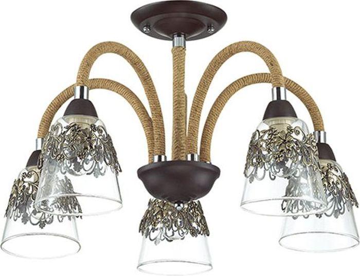 Люстра потолочная Odeon Light Teona, 5 х E14, 60W. 3252/5C3252/5C