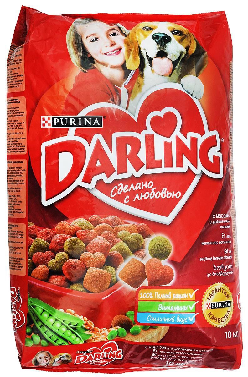 Корм сухой Darling для взрослых собак, с мясом и овощами, 10 кг12045392Сухой корм Darling является полнорационным сбалансированным питанием для взрослых собак. Сухой корм Darling содержит: - белок - для поддержания мышечной системы;- углеводы - для энергичности;- клетчатка - для хорошего пищеварения;- жиры - для блестящей шерсти;- витамины и минеральные вещества - необходимые питательные вещества для организма.- важнейшие минеральные вещества и витамин D для сильных костей. Состав: злаки, мясо и субпродукты (минимум 4% мяса в темно-красных, оранжевых и зеленых гранулах), масла и жиры, минеральные вещества и овощи (0,5% моркови и 0,5% гороха в темно-красных, оранжевых и зеленых гранулах). Добавленные вещества: мг/кг: железо: 32; йод:1,6; медь: 7,0; марганец: 4,5; цинк: 115; селен: 0,12; МЕ/кг: витамин A: 9 510; витамин D3: 640. Содержит красители, антиокислители и консерванты.Гарантированные показатели: белок 17,0%, жир 7,0%, сырая зола 8,0%, сырая клетчатка 2,0%. Товар сертифицирован.