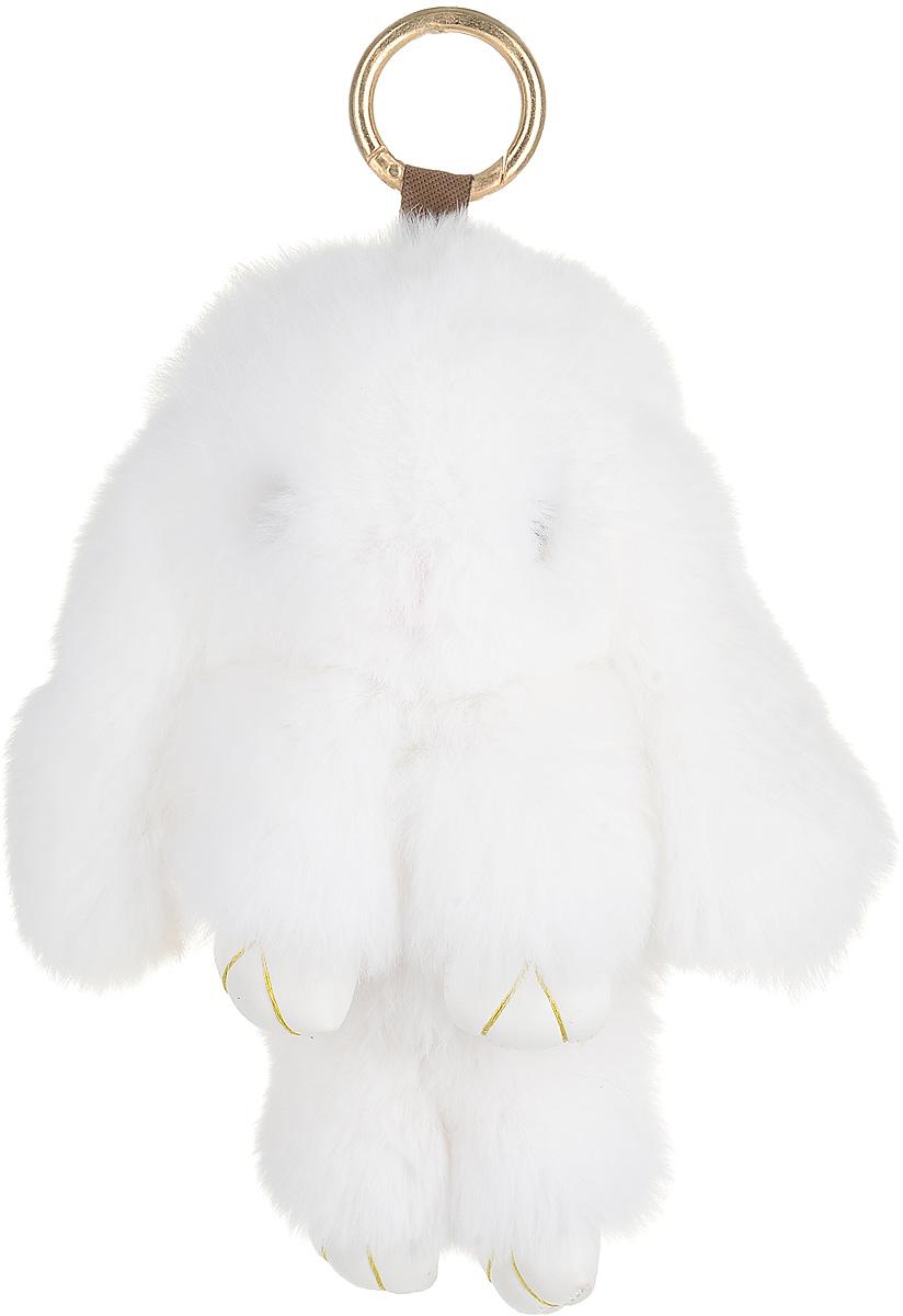 Брелок женский Good Mood, цвет: белый. 0637Натуральный мехНеобычайно мягкий , пушистый Кролик- брелок станет прекрасным подарком на любой праздник или событие. Против его очарования нет равнодушных! Помимо отличительных тактильных ощущений и высокого качества, кролик-брелок является стильным аксессуаром, которым можно украшать сумки, мобильные телефоны, джинсы, ключи, салоны машин и рабочие интерьеры