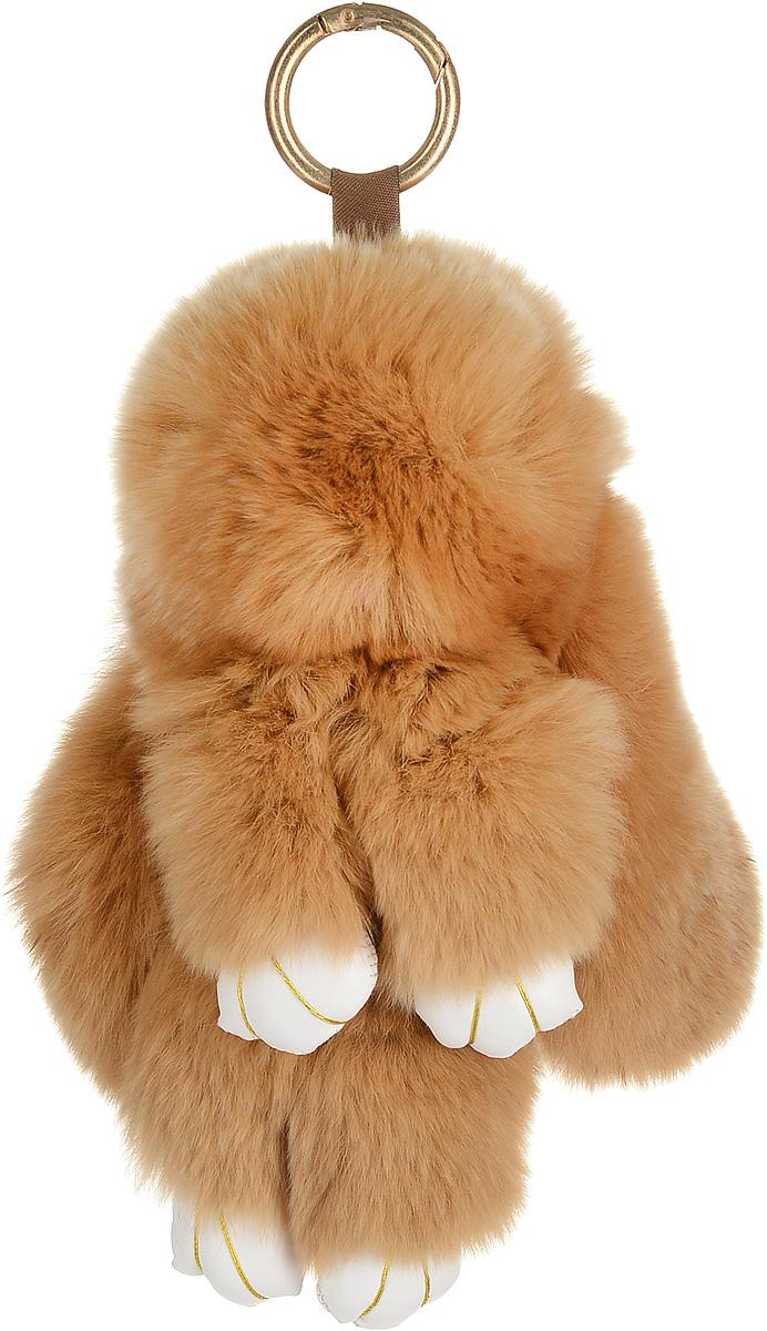 Брелок женский Good Mood, цвет: коричневый. 675675Необычайно мягкий , пушистый Кролик- брелок станет прекрасным подарком на любой праздник или событие. Против его очарования нет равнодушных! Помимо отличительных тактильных ощущений и высокого качества, кролик-брелок является стильным аксессуаром, которым можно украшать сумки, мобильные телефоны, джтнсы, ключи, салоны машин и рабочие интерьеры