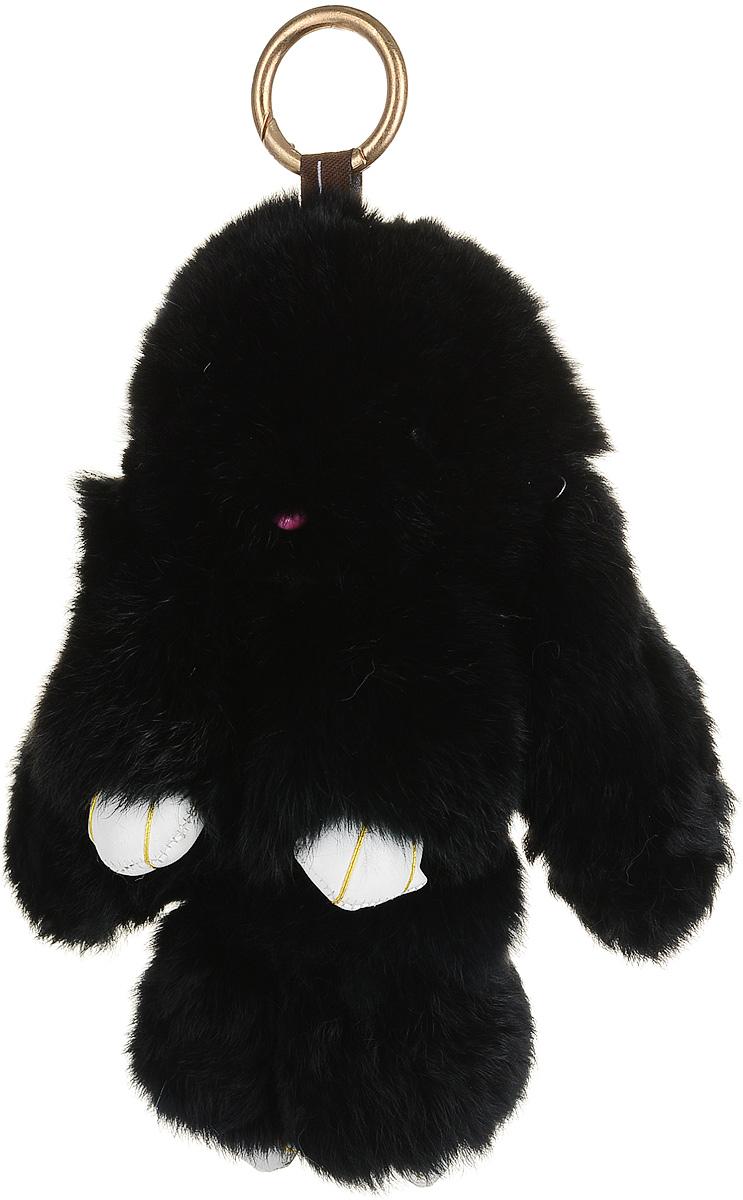 Брелок женский Good Mood, цвет: черный. 576Натуральный мехНеобычайно мягкий , пушистый Кролик- брелок станет прекрасным подарком на любой праздник или событие. Против его очарования нет равнодушных! Помимо отличительных тактильных ощущений и высокого качества, кролик-брелок является стильным аксессуаром, которым можно украшать сумки, мобильные телефоны, джтнсы, ключи, салоны машин и рабочие интерьеры
