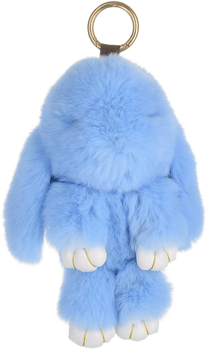 Брелок женский Good Mood, цвет: голубой. 0620Натуральный мехНеобычайно мягкий , пушистый Кролик- брелок станет прекрасным подарком на любой праздник или событие. Против его очарования нет равнодушных! Помимо отличительных тактильных ощущений и высокого качества, кролик-брелок является стильным аксессуаром, которым можно украшать сумки, мобильные телефоны, джтнсы, ключи, салоны машин и рабочие интерьеры
