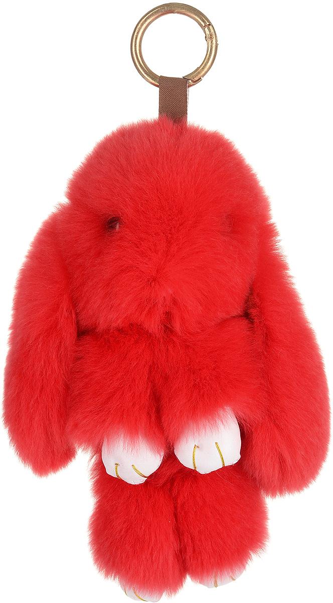 Брелок женский Good Mood, цвет: красный. 651651Необычайно мягкий , пушистый Кролик- брелок станет прекрасным подарком на любой праздник или событие. Против его очарования нет равнодушных! Помимо отличительных тактильных ощущений и высокого качества, кролик-брелок является стильным аксессуаром, которым можно украшать сумки, мобильные телефоны, джтнсы, ключи, салоны машин и рабочие интерьеры
