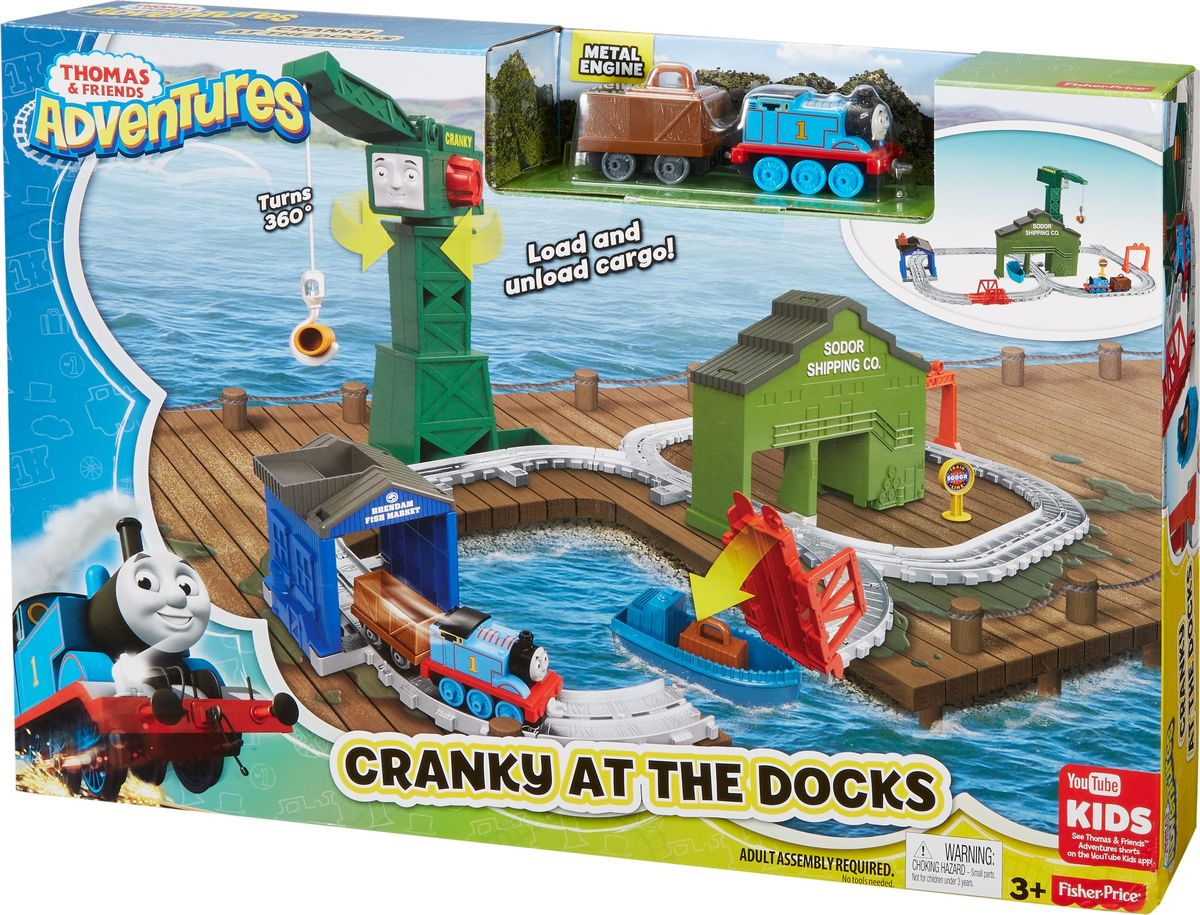 Thomas & Friends Железная дорога Крэнки на причале thomas & friends железная дорога чарли за работой