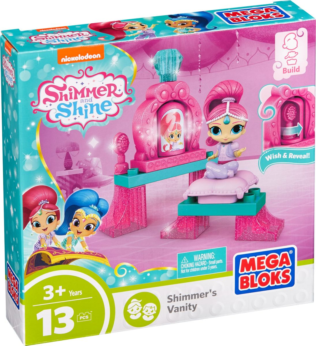 Mega Bloks Shimmer & Shine Конструктор Мечты маленьких джинников Shimmer's Vanity крючок двойной tatkraft mega lock на вакуумном шурупе
