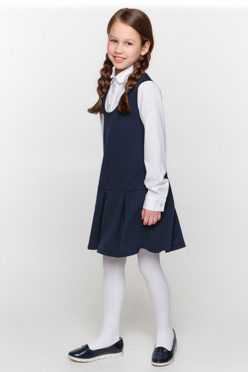 Платье для девочки Overmoon by Acoola Bernis, цвет: темно-синий. 21200200005_600. Размер 16421200200005_600Платье для девочки Overmoon Bernis выполнена из высококачественного материала. Модель свободного кроя с отложным воротником и длинными рукавами застегиваются на пуговицы.