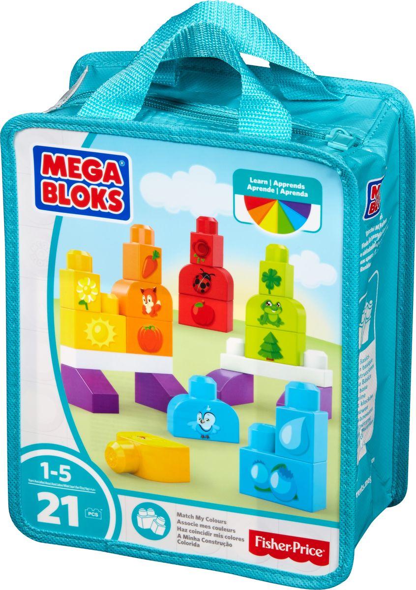 Mega Bloks Pre-school Обучающий конструктор Изучаем цвета лего кубики america jiabao mega bloks halo