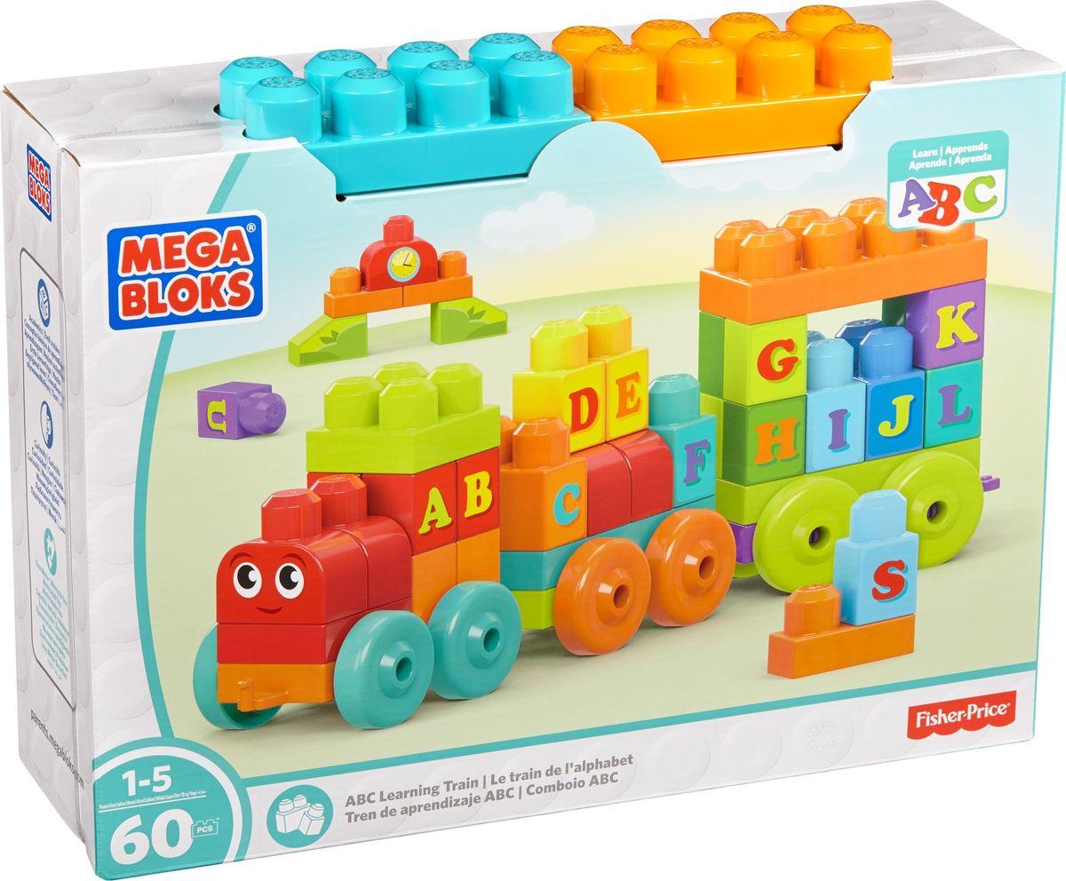Mega Bloks Building Basics Конструктор ABC Обучающий поезд