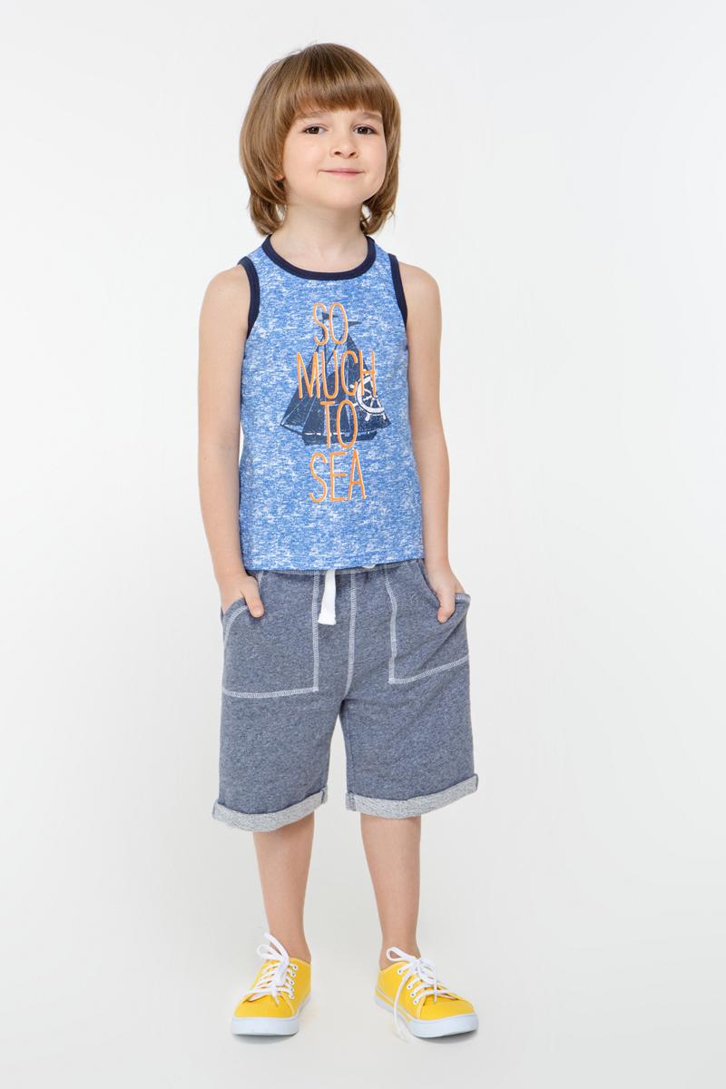 Майка для мальчика Overmoon by Acoola Cubanelle, цвет: синий. 21124220004_500. Размер 128 infinity by acoola roberto р 122 128 белая