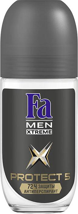 Fa Men Дезодорант-антиперспирант роликовый Xtreme Protect 5, 50 мл120854385Fa MEN Xtreme Protect 5 – эффективный антиперспирант и 5 действий против: пота, запаха, пятен, раздражения и зуда! 72 часа высокоэффективной защиты против влажности и запаха пота. Борется с источником запаха и обеспечивает длительную свежесть. Научно
