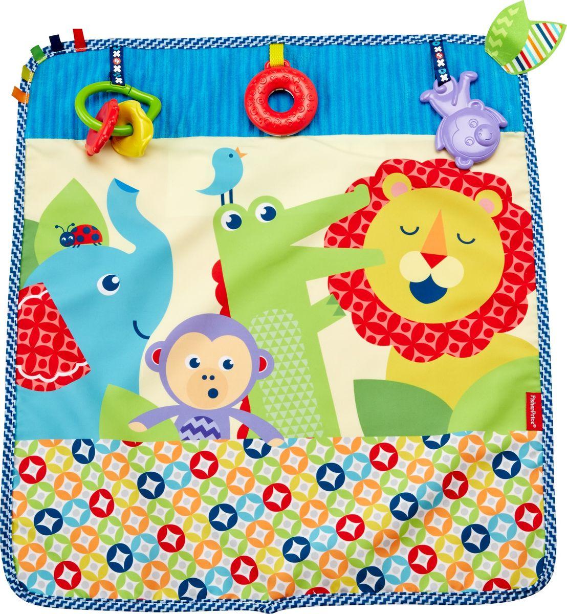 Fisher-Price Развивающая игрушка Мягкое одеяло Пойдем на прогулку 40 х 60 см музыкальный мобиль fisher price мечты о бабочках cdn41
