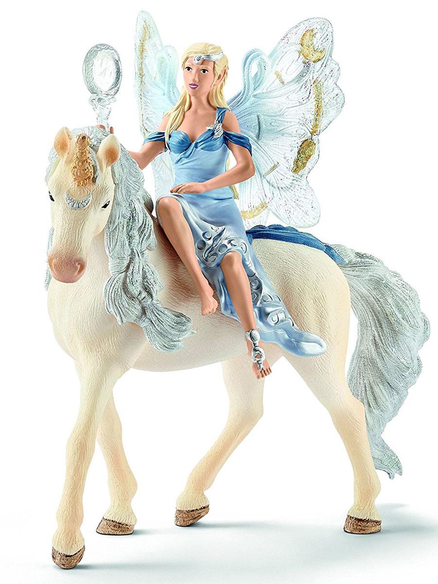 Schleich Фигурка Эльфийка Луная на единороге игрушка schleich фигурка андалузская кобыла