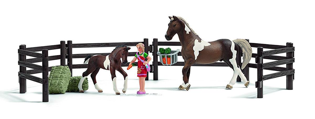 Schleich Игровой набор Кормление лошадей когда папа приходит поздно…