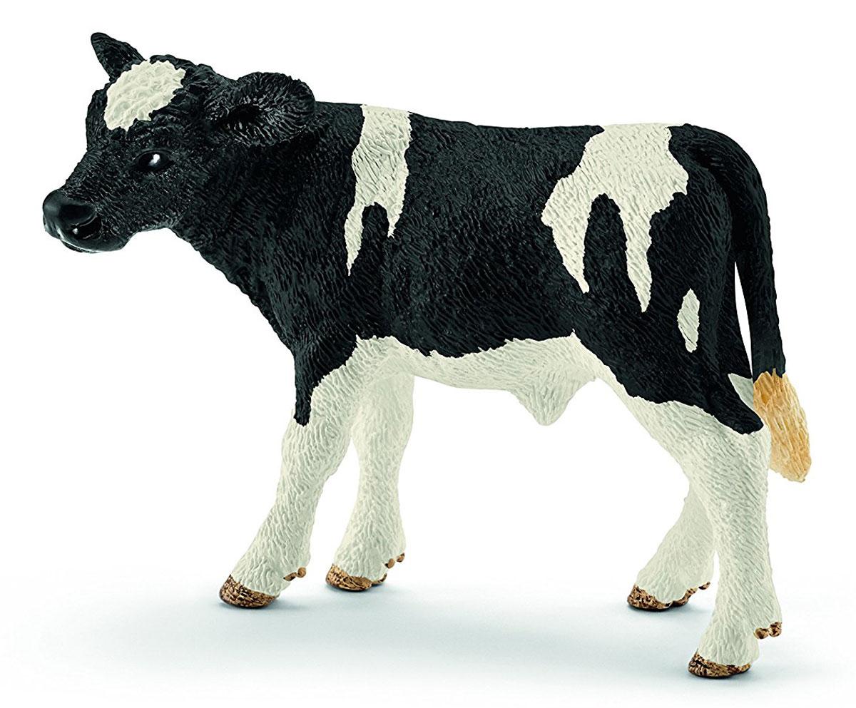 Schleich Фигурка Теленок Голштинской породы набор семья коров на пастбище schleich набор семья коров на пастбище