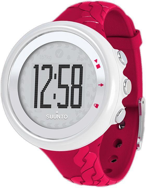 Часы-пульсометр Suunto M2, цвет: черный, розовыйSS015855000Спортивные часы Suunto M2 — часы, позволяющие без труда наблюдать за частотой сердцебиения и расходом калорий в режиме реального времени. Часы оснащены всеми необходимыми функциями для достижения поставленных спортивных целей и позволяют поддерживать оптимальную физическую нагрузку. Suunto M2 продается в комплекте с удобным текстильным ремнем.Информация о частоте сердцебиения в режиме реального времени Информация о расходе калорий в режиме реального времени Рекомендации по тренировке в режиме реального времени Три зоны сердцебиения Автоматическое переключение между тремя зонами сердцебиения Меню на 9 языках КомплектацияSuunto M2 Fuchsia, Suunto Comfort Belt и краткое руководствоРазмеры 43,6 x 43,6 x 13 мм Вес 40 гМатериал безеля: Композит Материал стекла: Акрил Материал корпуса: Композит Материал ремешка: Эластомер