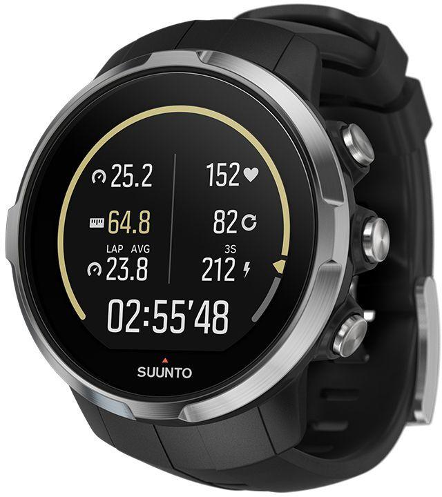 Часы спортивные Suunto Spartan Sport HR, цвет: черныйSS022648000Suunto Spartan Sport — это продвинутые GPS-часы для мультиспорта с утонченным дизайном, цветным сенсорным экраном, водонепроницаемостью до 100 м и компасом, работающие до 16 ч в режиме тренировки. 80 предустановленных спортивных режимов и конкретные показатели по видам спорта делают Spartan Sport вашим идеальным партнером для тренировок. Отслеживайте достижения и личные рекорды. Оптимизируйте тренировки, опираясь на анализ данных сообщества. Открывайте новые маршруты в Suunto Movescount с помощью тепловых карт, пусть часы ведут вас по маршруту. Часы Spartan Sport сделаны в Финляндии. Их надежный и утонченный дизайн специально оптимизирован для условий соревнований. В комплект входит датчик сердцебиения. ГОТОВЫ К СОРЕВНОВАНИЯМВодонепроницаемость до глубины 100 м / 300 фт 10 часов работы от батареи на полной мощности при фиксированном интервале опроса GPS (1 с) для максимально точной GPS-навигации 16 часов работы от батареи в режиме экономии энергии при фиксированном интервале опроса GPS (1 с) для достаточно точной GPS-навигации Защищенный цветной сенсорный экран с тремя кнопками GPS/GLONASS для навигации по маршруту и определения расположения следование маршруту в реальном времени с маршрутом и точками POIGPS используется для отслеживания набора или снижения высоты в тренировке Цифровой компас с компенсацией склонения ОПЫТ СПОРТИВНЫХ ДОСТИЖЕНИЙИзмерение частоты сердцебиения, оценка потраченных калорий, максимальной эффективности тренировки и времени восстановления Поддержка более 80 видов спорта в режимах соревнований и интервальной тренировки Режим триатлона и мультиспорта Настройка интервальных тренировок на часахБег: таблица пройденных этапов со сведениями о темпе бега и частоте сердцебиения; точное измерение темпа с технологией FusedSpeed™ поддержка датчика Stryd для оценки затрат мощности при беге Велосипедная гонка: таблицы этапов в реальном времени с пульсом, мощностью и скоростью поддержка измери