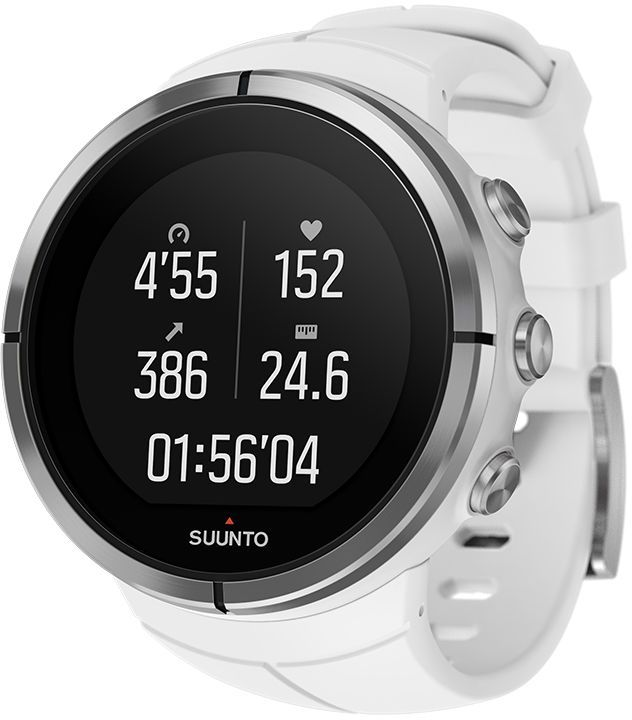 """Спортивные часы Suunto """"Spartan Ultra"""" — это продвинутые GPS-часы для мультиспорта с цветным сенсорным экраном,   водонепроницаемостью до 100 м (300 фт.) и до 26 ч работы батареи в режиме тренировки. Компас и барометрическая высота с FusedAlti™   позволяют никогда не сбиться с пути. 80 предустановленных спортивных режимов и конкретные показатели по видам спорта делают Spartan   Ultra вашим оптимальным партнером для тренировок. Отслеживайте достижения и личные рекорды. Оптимизируйте тренировки, опираясь на   анализ данных сообщества. Открывайте новые маршруты в Suunto Movescount с помощью тепловых карт, пусть часы ведут вас по маршруту.   Часы Spartan Ultra созданы вручную в Финляндии и спроектированы с прицелом на надежность в любых условиях.  Особенности:   Водонепроницаемость до глубины 100 м / 300 фт 18 часов работы от батареи в режиме максимальной мощности при фиксированном интервале опроса GPS (1 с) для наиболее точной GPS-  навигации 26 часов работы от батареи в режиме экономии энергии при фиксированном интервале опроса GPS (1 с) для достаточно точной GPS-навигации   Защищенный цветной сенсорный экран с тремя кнопками GPS/GLONASS для навигации по маршруту и определения расположения следование маршруту в реальном времени с маршрутом и точками POI  GPS используется для отслеживания набора или снижения высоты в тренировке Алгоритм FusedAlti™ использует данные GPS и барометрическую высоту для точной оценки высоты Цифровой компас с компенсацией склонения  Измерение частоты сердцебиения, оценка потраченных калорий, максимальной эффективности тренировки и времени восстановления Поддержка более 80 видов спорта в режимах соревнований и интервальной тренировки Режим триатлона и мультиспорта Настройка интервальных тренировок на часах  Бег: таблица пройденных этапов со сведениями о темпе бега и частоте сердцебиения; точное измерение темпа с технологией FusedSpeed™ поддержка датчика Stryd для оценки затрат мощности при беге Велосипедная гонка: таблицы этапов в реальном вре"""