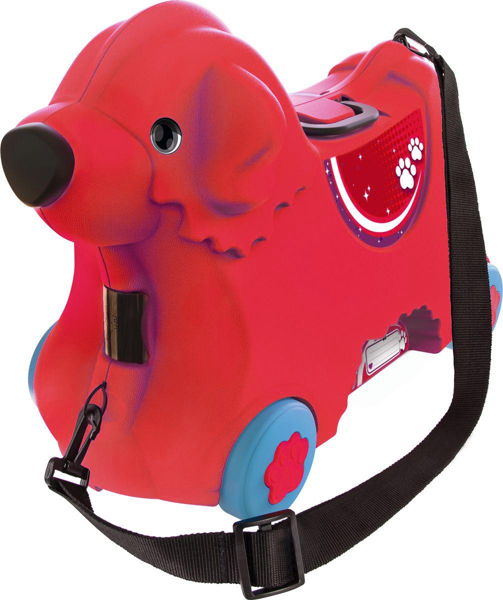 Big Чемодан детский цвет красный55350Чемодан детский Big имеет уникальный и продуманный дизайн. Выдерживает вес ребенка до 50 кг.Объем чемодана 15 литров. Размер соответствует размерам для ручной клади большинства авиакомпаний. Регулируемый и съемный ремень.Замок в виде носа. Ручки складываются в сидение.Широкие колеса.Именное поле.