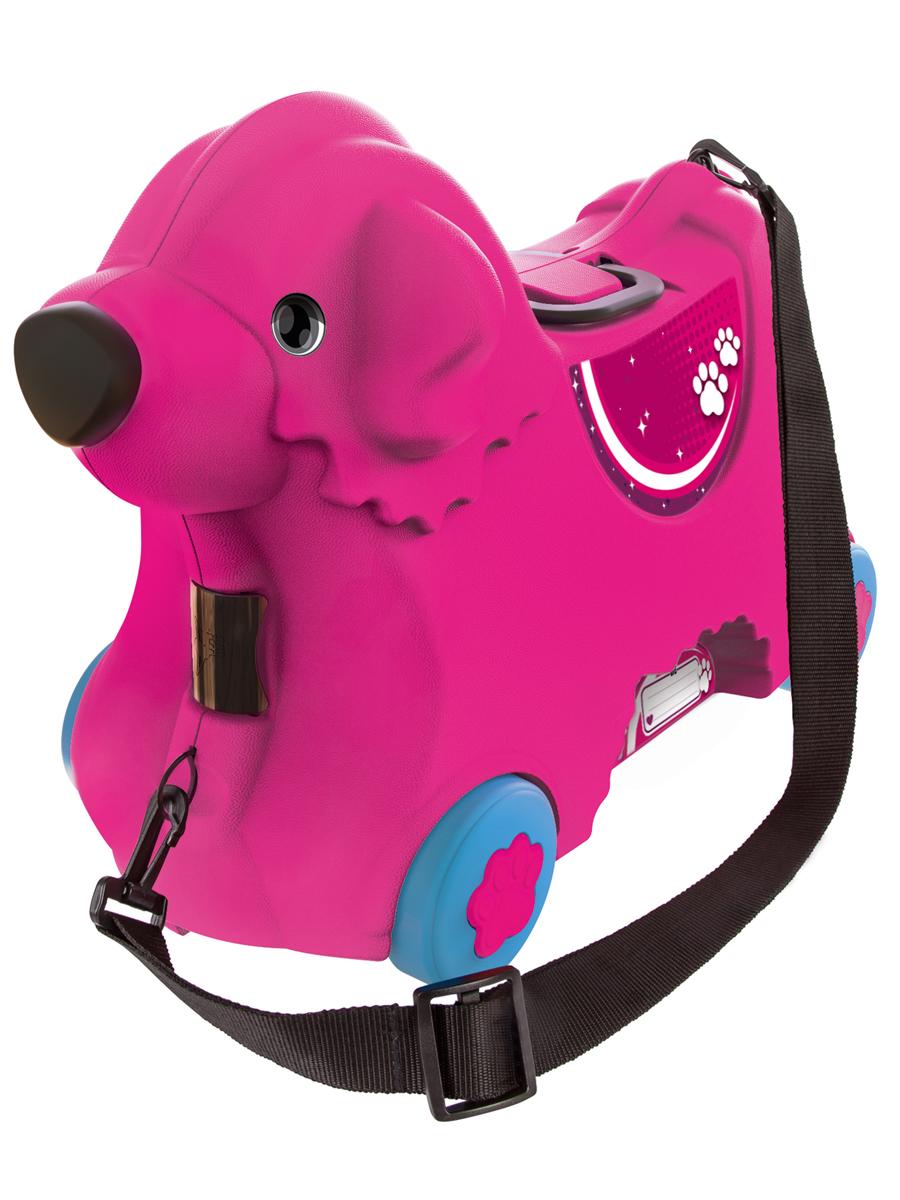 Big Чемодан детский цвет розовый55353Чемодан детский Big имеет уникальный и продуманный дизайн. Выдерживает вес ребенка до 50 кг.Объем чемодана 15 литров. Размер соответствует размерам для ручной клади большинства авиакомпаний. Регулируемый и съемный ремень.Замок в виде носа. Ручки складываются в сидение.Широкие колеса.Именное поле.