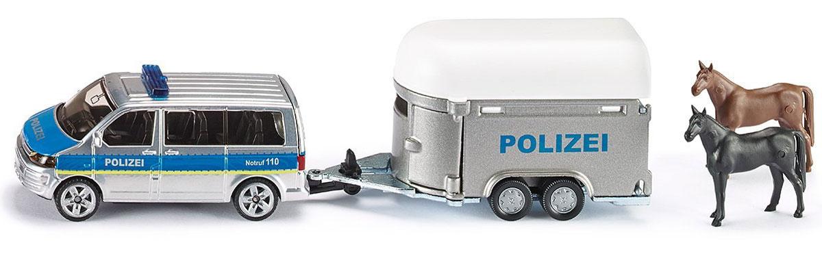 Siku Полицейская машина с прицепом для лошадей siku прицеп рыхлитель