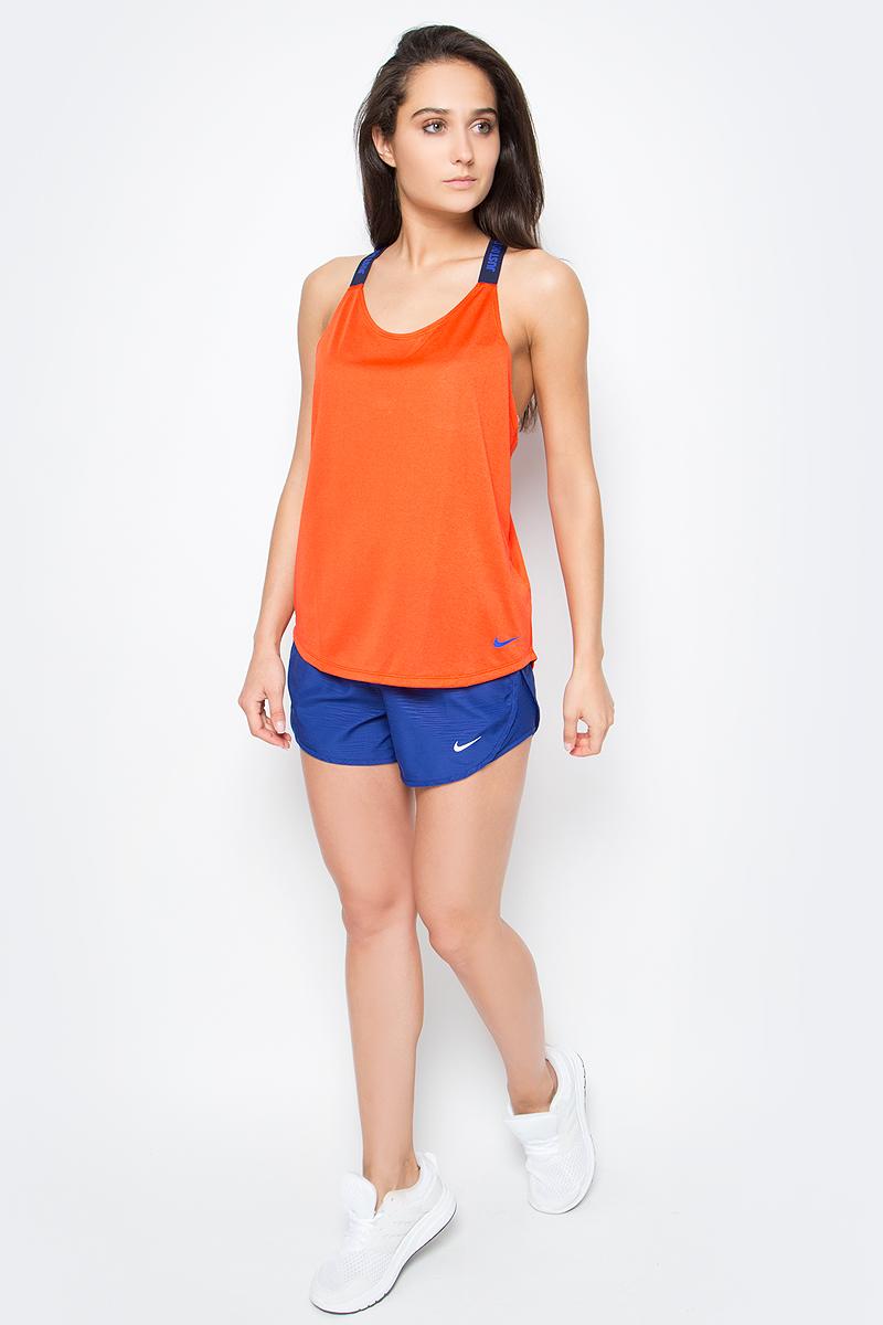 Шорты женские Nike Modern Embossed Tempo, цвет: синий. 719759-455. Размер S (42/44)719759-455Стильные спортивные шорты свободного кроя Modern Embossed Tempo от Nike изготовлены из легкого текстиля с технологией Dri-Fit. Функциональная ткань отводит влагу от тела, оставляя кожу сухой. Внутренний шнурок и эластичная резинка на талии обеспечивают идеальную посадку.Внутренняя поддерживающая конструкция и сетчатые вставки по бокам гарантируют комфорт. Модель оснащена небольшим карманом на застежке-молнии, расположенный сзади.