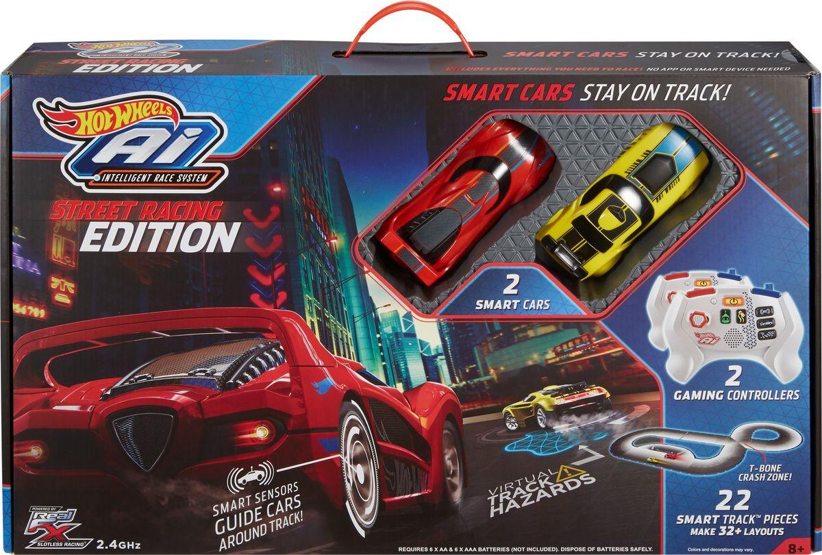 Hot Wheels Игрушечный трек Умная трасса Стрит-рейсинг hot wheels игрушечный трек робот крушитель