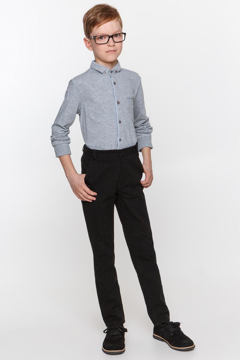 Рубашка для мальчика Overmoon by Acoola Gesper, цвет: серый. 21100100002_1900. Размер 15221100100002_1900Рубашка для мальчика Overmoon выполнена из высококачественного материала. Модель с отложным воротником и длинными рукавами застегивается по всей длине на пуговицы.