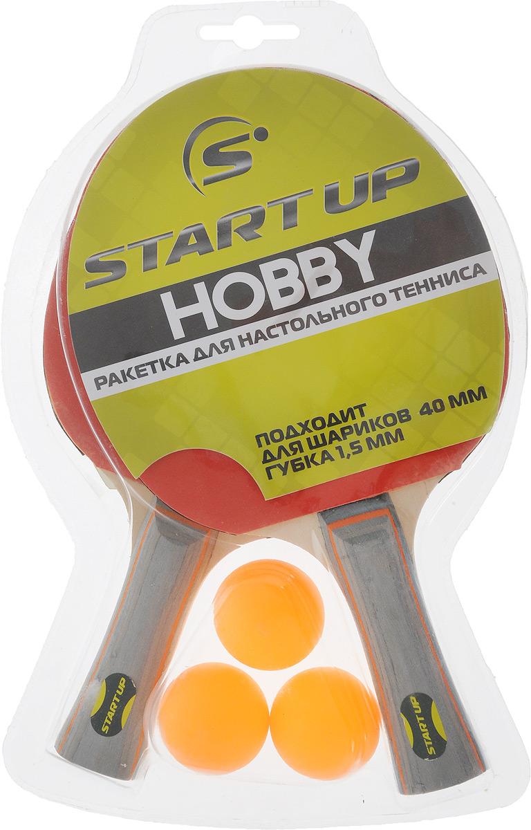 Набор для настольного тенниса Start Up, цвет: красный, черный, серый, 5 предметов230925_красный, черный, серыйНабор Start Up включает в себя 2 ракетки и 3 мячика. Ракетка, изготовленная из дерева и резины, удобно лежит в руке, гарантирует хорошее чувство мяча и наиболее комфортную игру. Подходит для любителей и начинающих игроков. Такая ракетка дает возможность тренировать вращение и скорость и переходить на более высокий уровень игры. Мячики выполнены из специального облегченного материала - целлулоид. Настольный теннис - спортивная игра, основанная на перекидывании мяча ракетками через игровой стол с сеткой. Цель игры - не дать противнику отбить мяч. Игра в настольный теннис развивает концентрацию внимания, ловкость и координацию. Размер ракетки: 26 х 15 см. Длина ручки: 10 см.Диаметр мяча: 4 см.Уважаемые клиенты! Обращаем ваше внимание на ассортимент в цвете шариков. Поставка осуществляется в зависимости от наличия на складе.