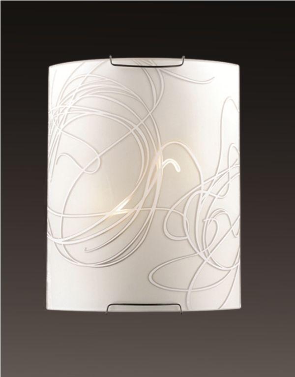 Cветильник настенный Sonex Molano, 2 х E14, 60W. 16431643Настенный светильник Sonexсо стеклянным плафоном и фурнитурой серебристого цвета позволит вам создать уют и тепло в вашем интерьере.
