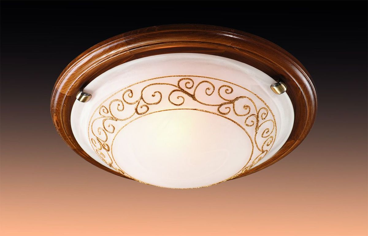 Светильник потолочный Sonex Barocco Wood, 2 х E27, 100W. 234234
