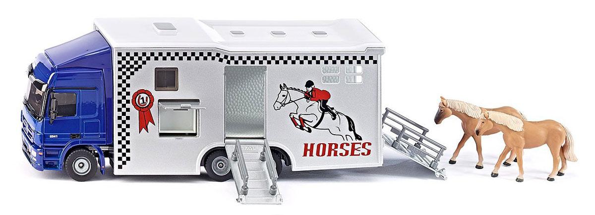 Siku Перевозчик Mercedes-Benz Actros для лошадей грузовик трейлер на радиоуправлении пламенный мотор mercedes benz actros 1 32 оранжевый