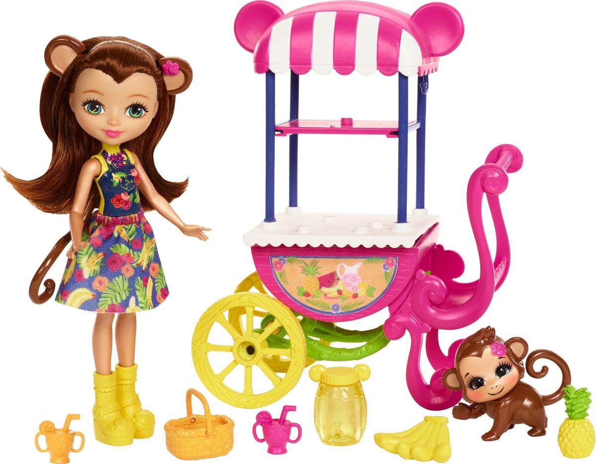 Enchantimals Игровой набор с куклой Fruit Cart игровой набор enchantimals кукла со зверюшкой и аксессуарами в ассортименте