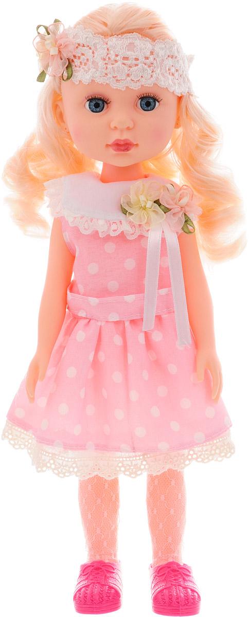 Abtoys Кукла Времена года цвет платья нежно-розовый в белый горошек куклы реборн недорого в москве на ярмарке мастеров