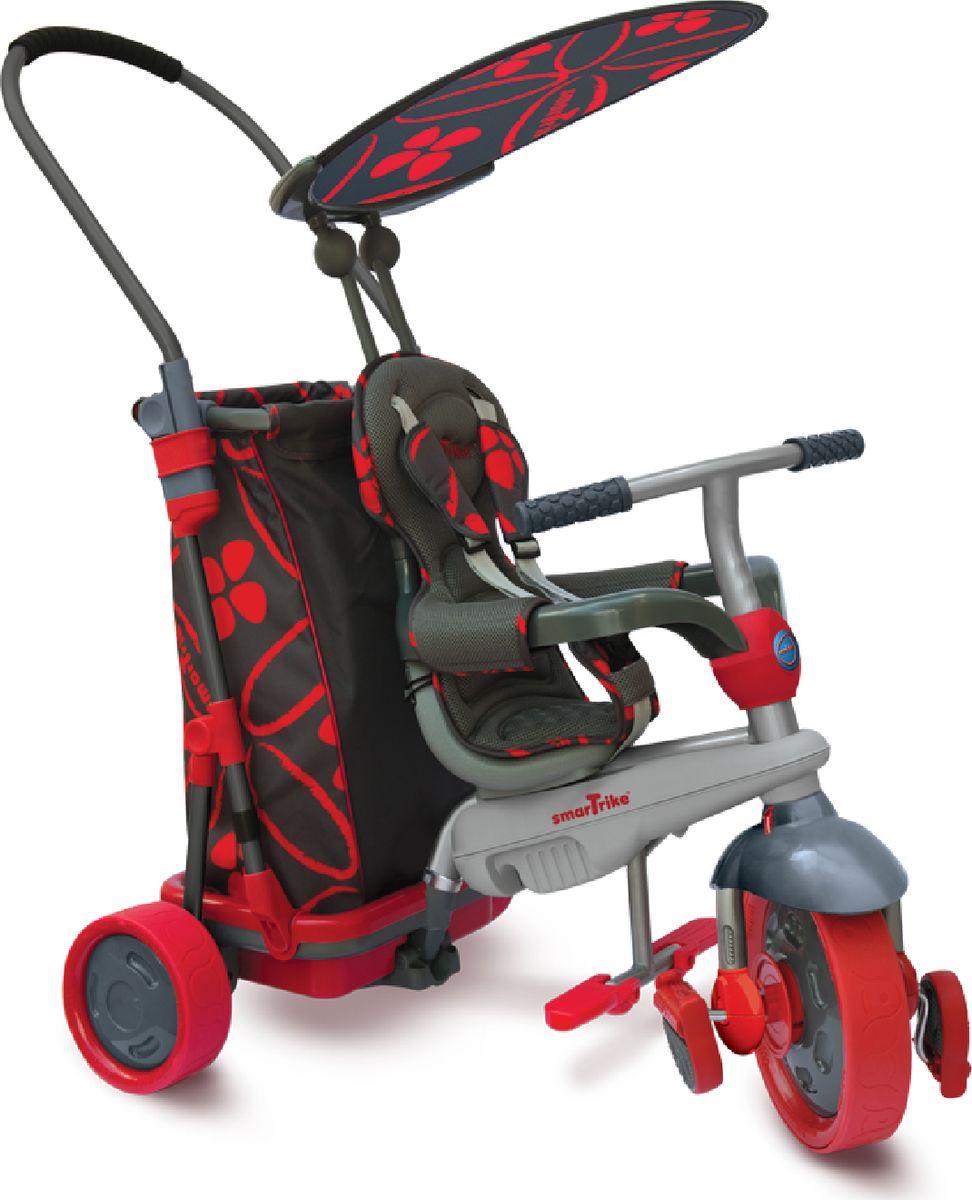 Smart Trike Велосипед трехколесный Smart & Go цвет красный черный7000100Велосипед Smart Trike Smart & Go сочетает в себе элементы трехколесного велосипеда с уникальной технологией управления Touch Steering и тележки для покупок. Благодаря огромной вместительной корзине прогулка на велосипеде станет интересной и увлекательной не только для малыша, но и исключительно удобной для родителей.Особенности: Сиденье со спинкой, с тканевой вставкой.Уникальная система блокировки руля.Задняя ручка.Корзинка задняя (фиксированная).Козырек от солнца.Подножки.Ремни безопасности.Страховочный ободок.Какой велосипед выбрать? Статья OZON Гид