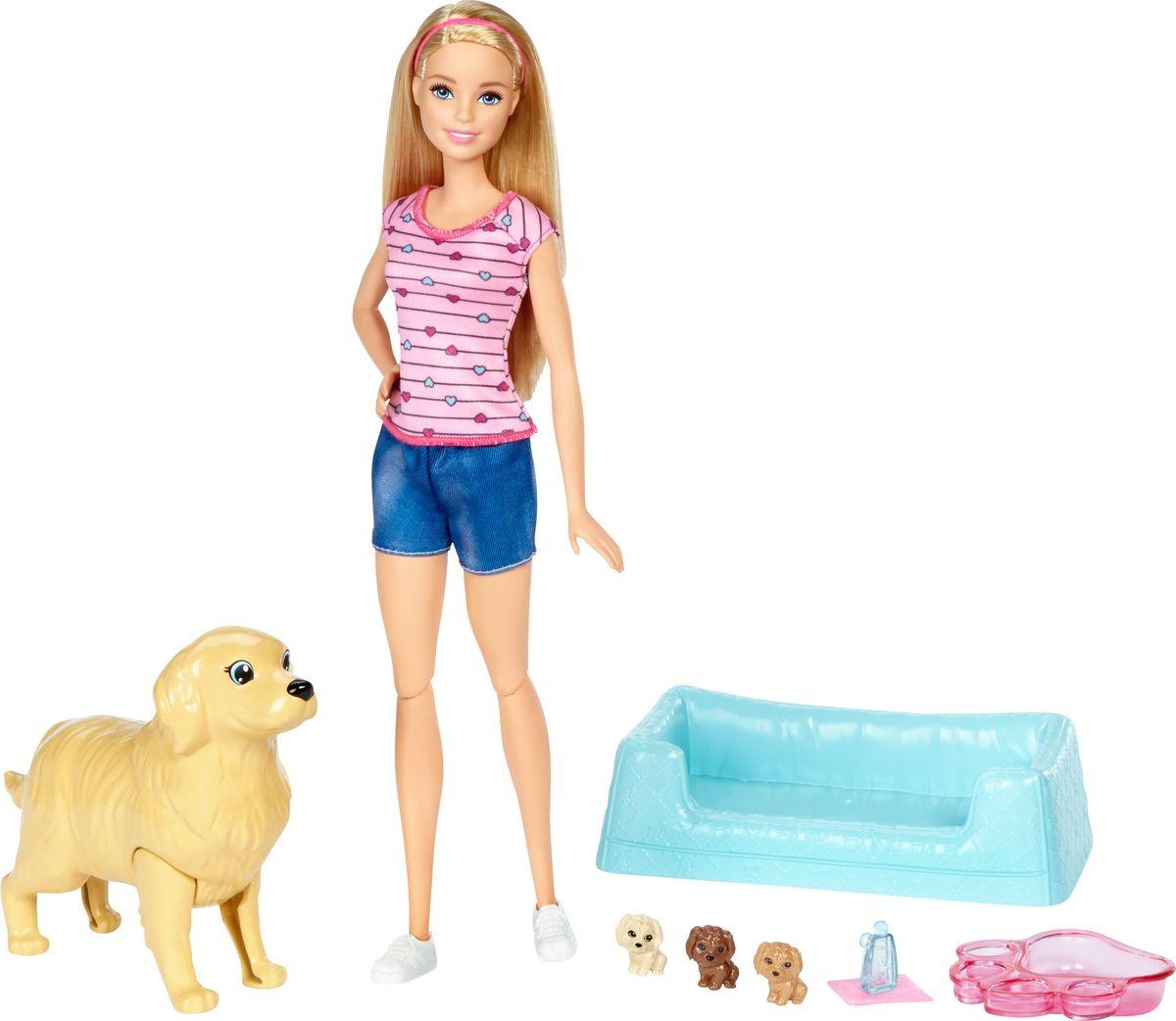 Zakazat.ru: Barbie Игровой набор Кукла и собака с новорожденными щенками