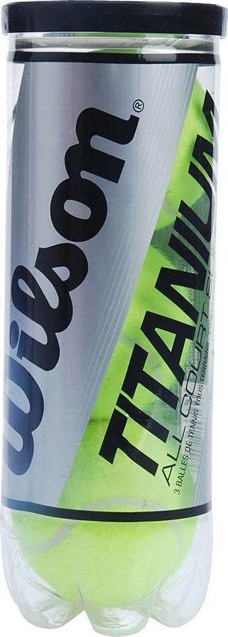 Набор теннисных мячей Wilson Titanium, 3 штWRT1021Теннисные мячи Wilson Titanium оснащены титановым сердечником, который сжимается два раза сложнее, чем обычных мячах, тем самым увеличивая прочность. Эти мячи одинаково подходят для всех видов покрытий кортов.Уважаемые клиенты! Обращаем ваше внимание на возможные изменения в дизайне упаковки. Поставка осуществляется в зависимости от наличия на складе.