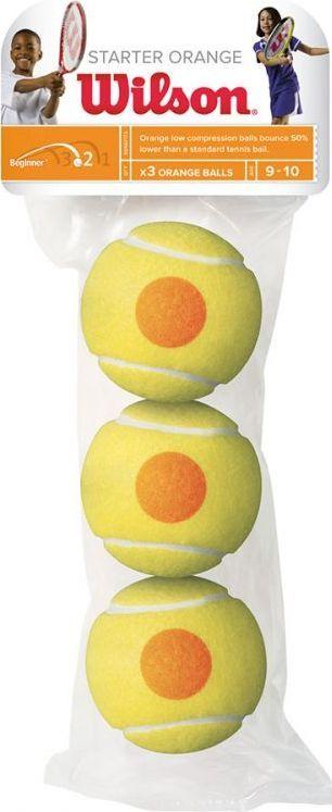 Мячи теннисные Wilson Starter Orange, 3 штWRT137300Теннисные мячи Starter Orange специально разработаны для тренировки детей возрасте от до 10 лет. Тренировочные мячи необходимы для отработки правильной техники. Их скорость отскока снижена на 75%.В комплекте 3 мяча.