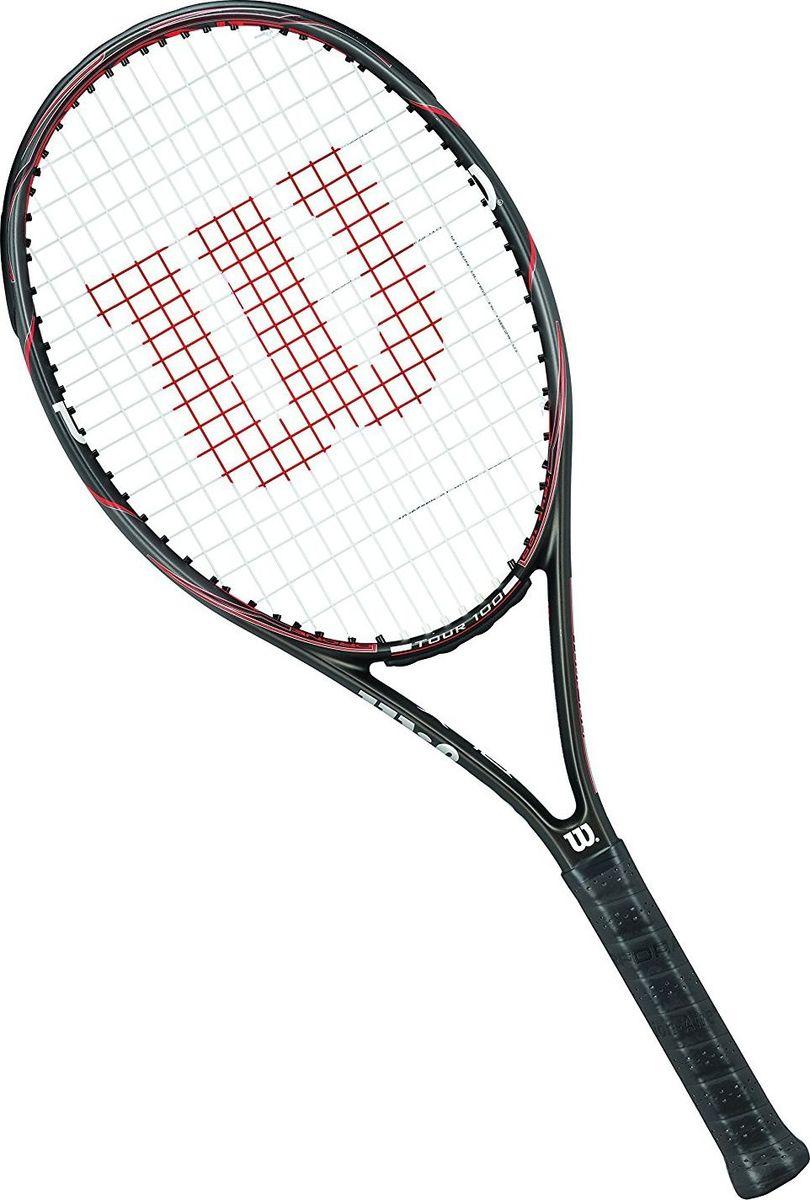 Ракетка теннисная Wilson Drone Tour 100, длина 68,5 смWRT57770U2Если вы считаете, что для наилучших показателей на теннисном корте вам требуется облегченная ракетка, то обратите внимание на Wilson Drone Tour 100. Этот инструмент для игры в большой теннис находится в категории легких по своему весу. Он составляет всего 284 грамма, если не брать в расчет струны. В принципе, эту ракетку, вполне, можно назвать универсальной. Она подходит для любого игрового стиля, спокойно может быть применена на разных покрытиях.Размер головы: 100 кв. дюймов.Длина: 68,5 см.Баланс без струн: 32,5 см.Струнная поверхность: 16 x 19 см.Вес без струн: 284 г.