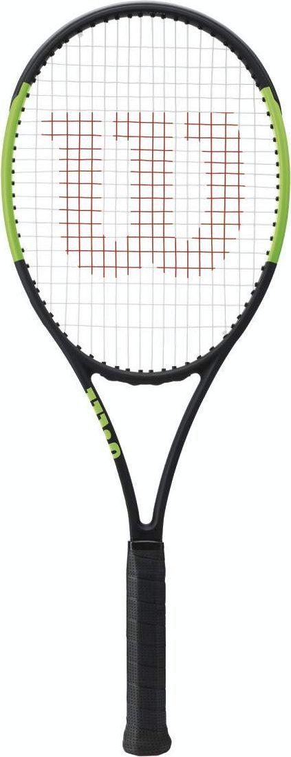 Ракетка теннисная Wilson Blade 98 18X20 CV. Размер 4WRT73311U4Теннисная ракетка Wilson Blade 98 18X20 CV предназначена для профессиональных спортсменов, а также для любителей, обладающих высоким уровнем навыков. Если вы предпочитаете агрессивный стиль на теннисном корте, то не проходите мимо этого инструмента. Он идеально подходит для любителей атак, широких ударов, плоских замахов. Производителю удалось увеличить пятно удара при помощи уникальной современной технологии Parallel Drilling. Это собственная разработка компании Wilson. А для сокращения вибраций использовали особый слой углерода. Он также придает конструкции легкости и некоторой воздушности.Баланс без струны: 32,5 см.Вес без струны: 304 г.Размер обода (кв. дюйм): 98.Длина: 68,58 см.Струнная поверхность: 18 x 20 см.