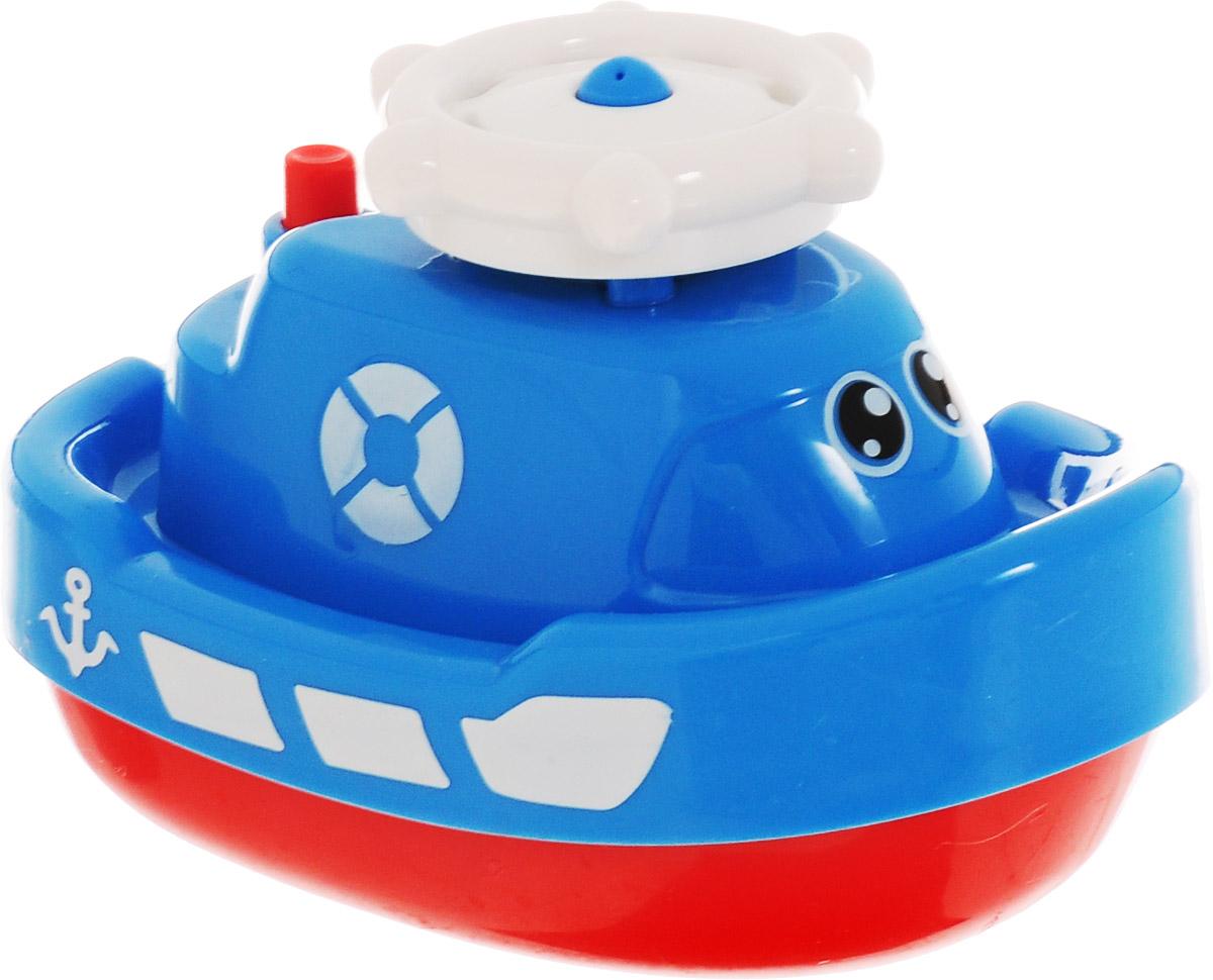 ABtoys Игрушка для ванной Кораблик-фонтан цвет голубой
