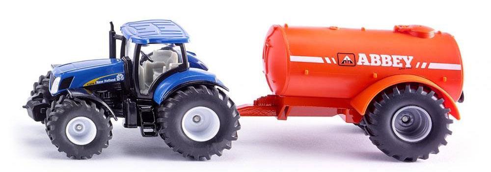 Siku Трактор New Holland T7070 с цистерной Abbey eichhorn вагон с цистерной