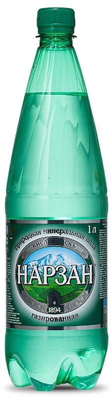 Нарзан вода газированная, 1 л бжни вода газированная 1 л