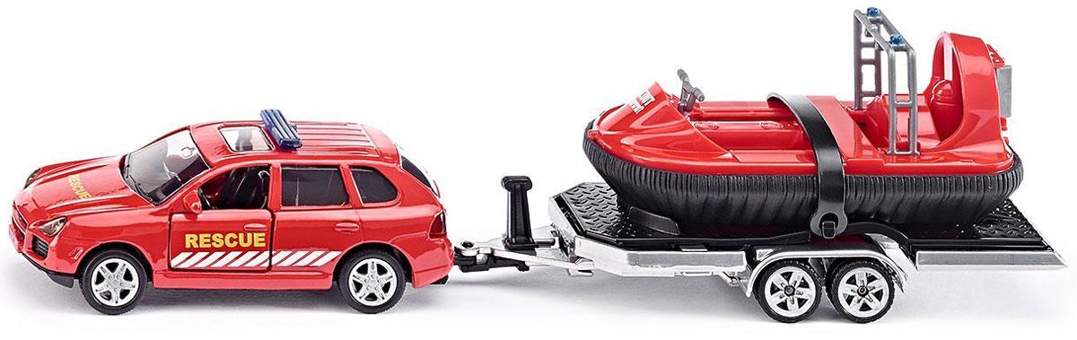 Siku Модель автомобиля Porsche Cayenne Turbo с прицепом и лодкой uni fortunetoys модель автомобиля porsche cayenne turbo