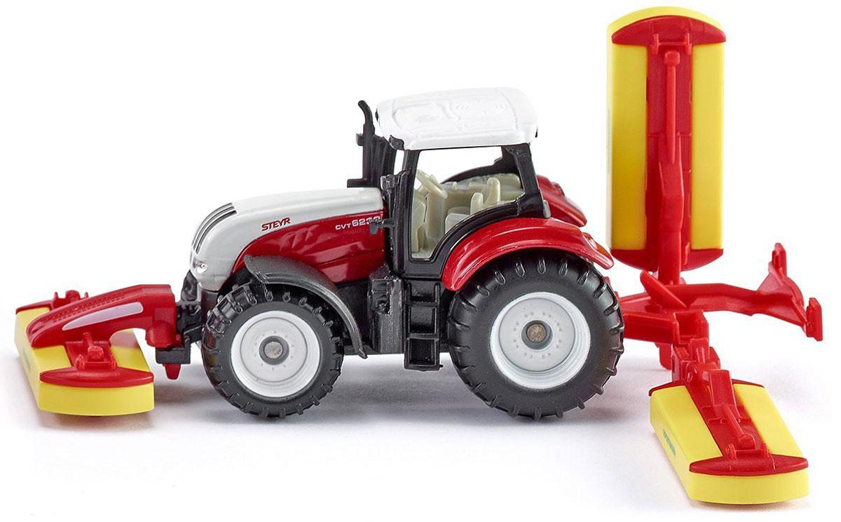 Siku Трактор Steyr с косилками машинки siku трактор с косилками