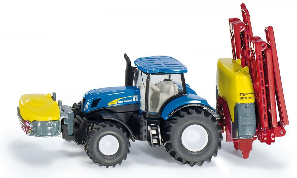 Siku Трактор New Holland T7070 с опрыскивателем Kverneland tomy трактор new holland t7 270 с 3 лет