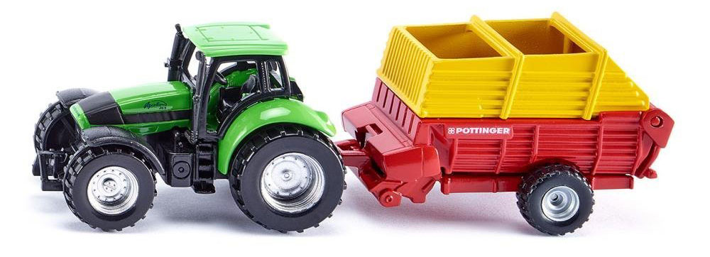 Siku Трактор Deutz Agrotron с сеялкой Poettinger siku siku 0859 трактор deutz agrotron